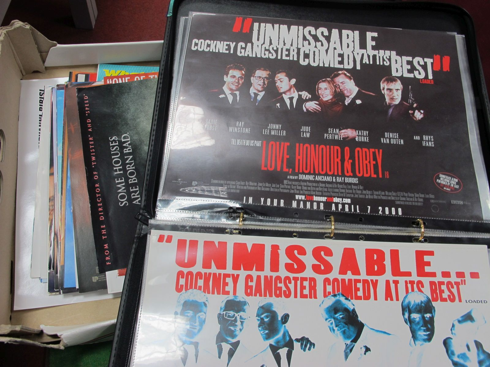 Approximately 130 Cinema Lobby Posters, in an album, including The Haunting , The Green Mile, Fast &