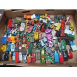 A Quantity of Loose Diecast, to include Matchbox Personal Carrier, Scammel Contractor, Corgi Morris,