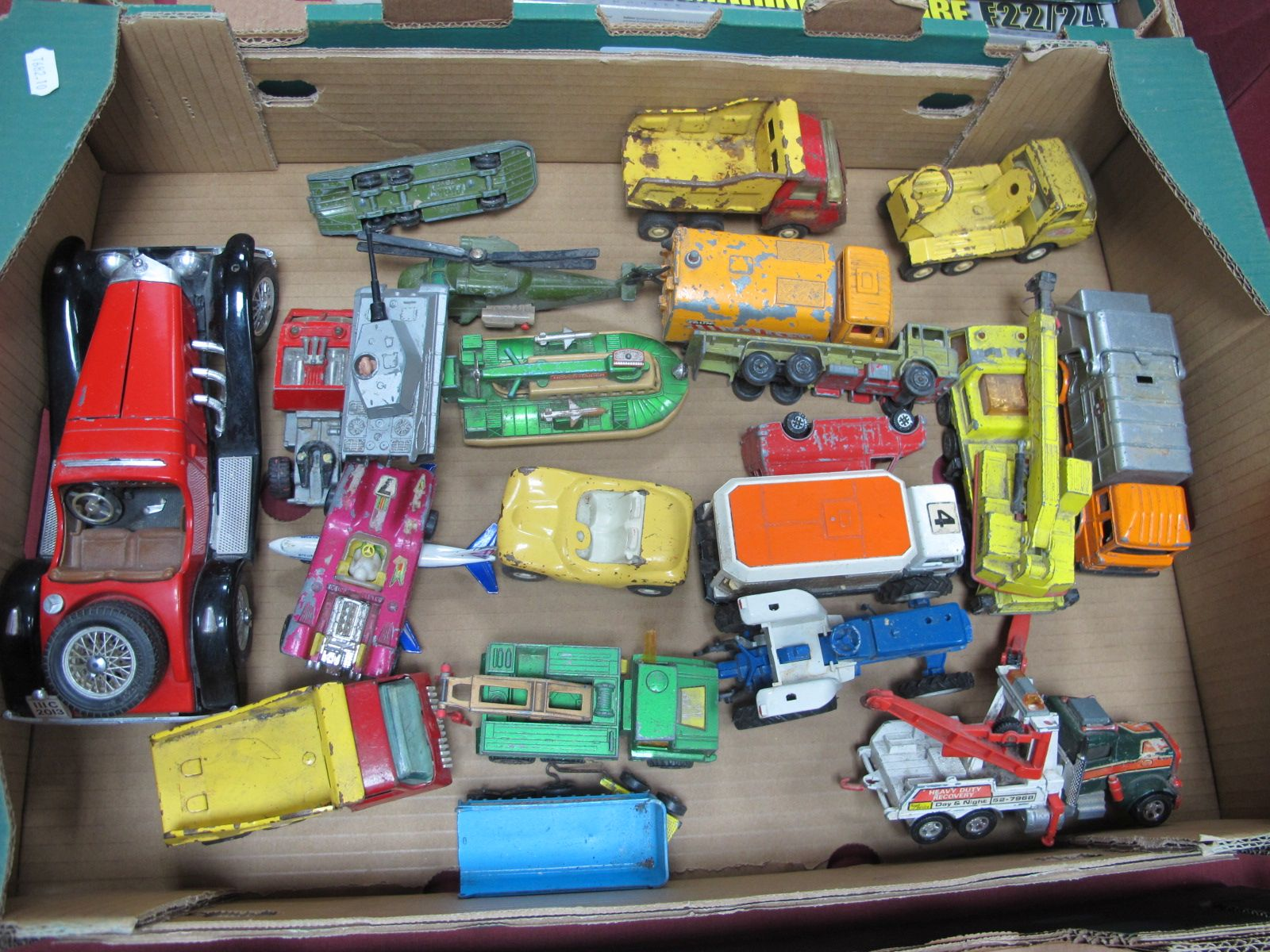 A Quantity of Loose Diecast, to include Corgi Revopack Refuse Collector, Tonka Tipper, Dinky