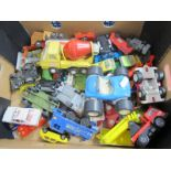 A Quantity of Loose Diecast Vehicles, Tonka Jeep, Beach Buggy and Cement Lorry. Plus various