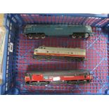Three 'OO' Gauge/4mm Diesel Locomotives, unboxed a Triang Bo-Bo Transcontinental R/No 4008, a Hornby