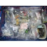A Quantity of Trackside Accessories, 'N', 'OO' and 'O' gauge, animals, people, platform items, etc.
