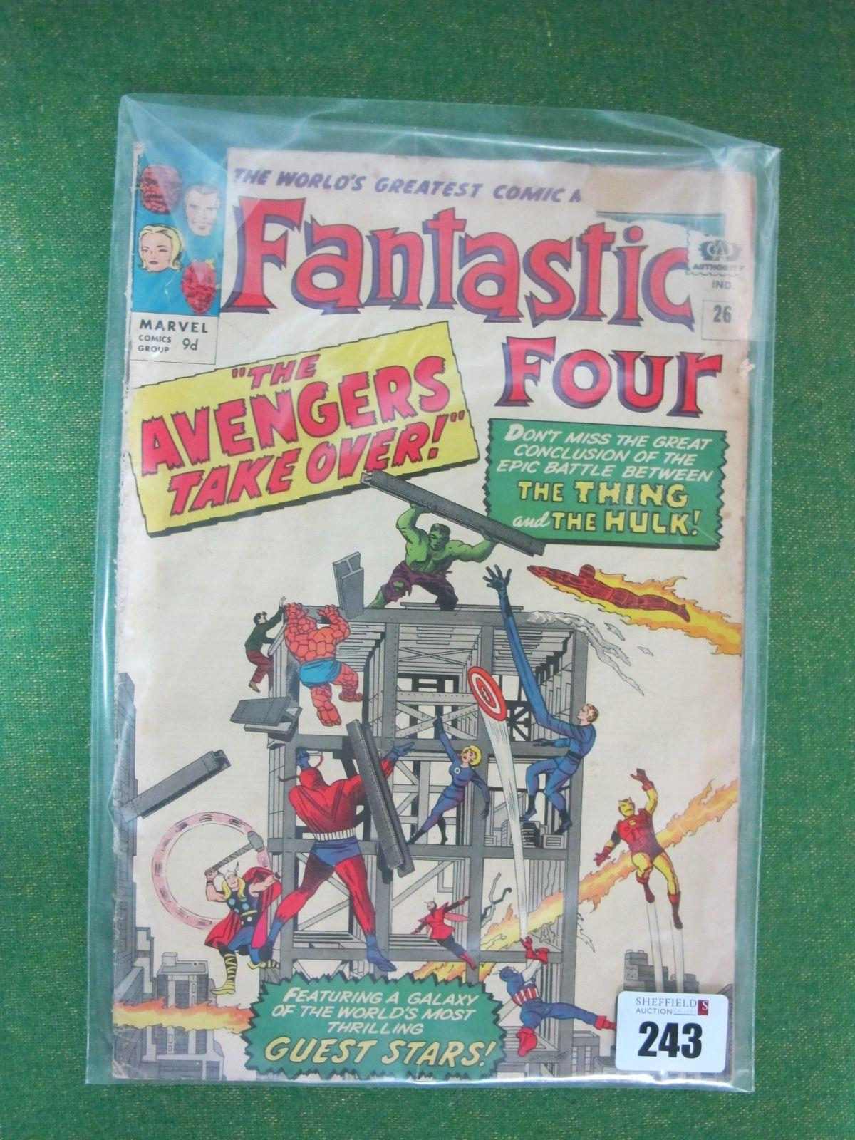 The Fantastic Four #26/No.26, 9d, in used well read condition.