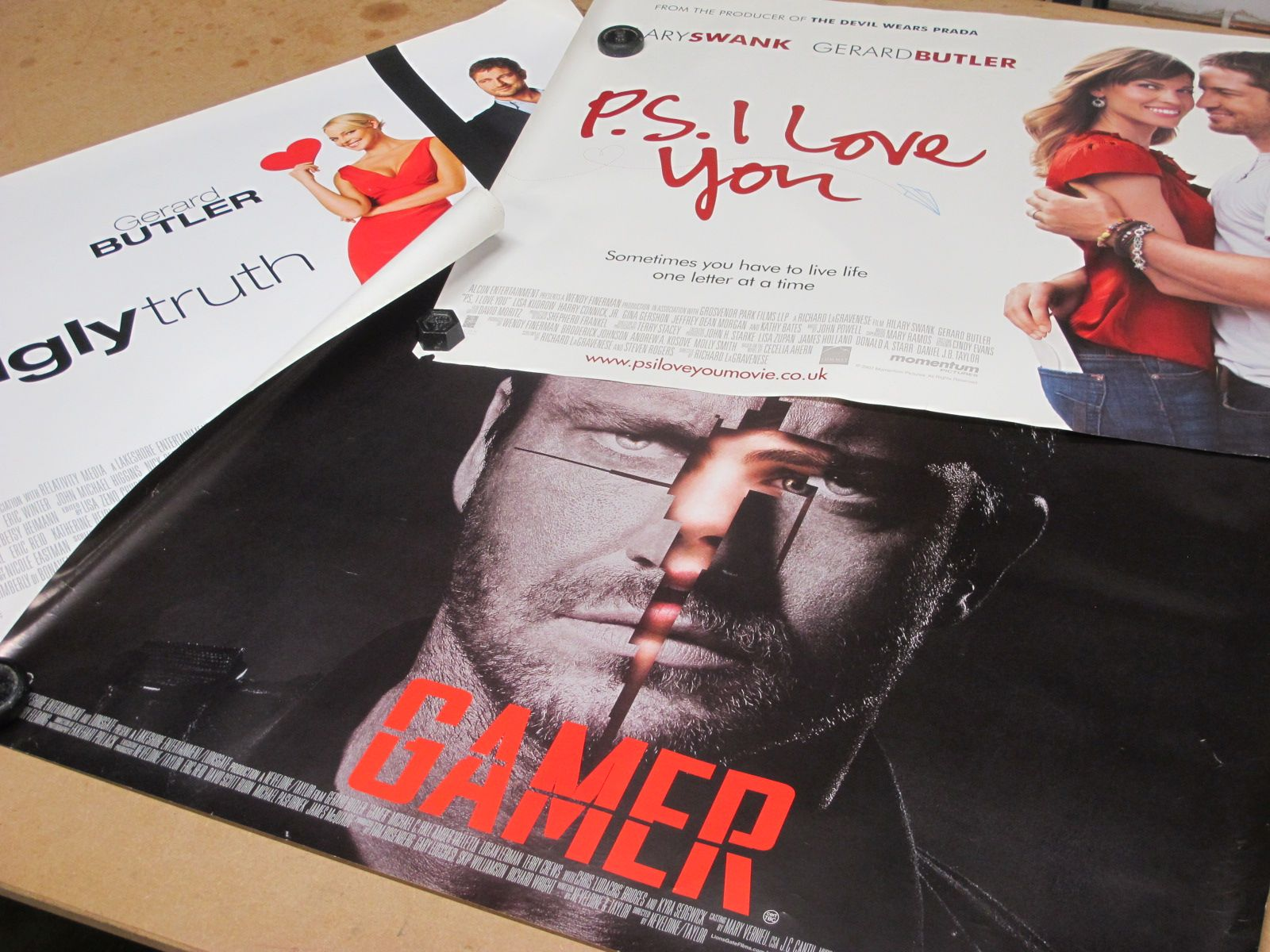 Gerrard Butler Film Posters - 'P.S. I Love You', 'The Ugly Truth', 'Gamer', 76 x 102cm (3)