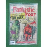The Fantastic Four #12/No.12, 9d, in used well read condition.