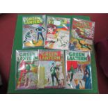 Six Issues of Green Lantern, comprising #18, #19, #20, #27, #29, #30, all 12c, with 9d stamp, used