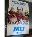 Monster University, 2013 Official Cinema Banner, 244cm x 152cm with faults.