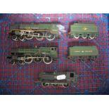 Three 'OO' Gauge/4mm Unboxed Steam Locomotives, a Graham Farish class 94XX 0-6-0 BR black R/No 9410,
