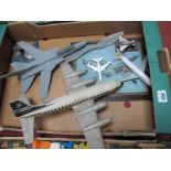 A Small Quantity of Display Model Planes, including Jet Fighter, Eurofighter, B.O.A.C Four Engine