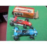 A Schuco 1073 Ferrari Formel 2 Car, boxed, a Schuco Matra-Ford Formel 1, unboxed. (2)