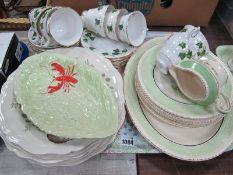 Pottery Ambassador Eight Piece Fish Set, Doulton, Carlton and Colclough pottery:- One Tray.