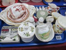 Wedgwood. Spode, Derby, Coalport and other ceramics:- One Tray.