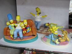 Coalport The Simpsons, 'Two to Tango' (damaged), The Family That Sits together (damaged) and The