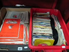 UB40 Single Red Red Wine, Bronski Beat, It Aint Necessarily So, and other 45 singles, together
