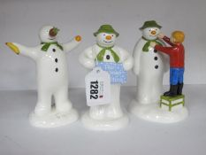 Coalport The Snowman Characters Figure Group, 'The Welcome No 887/1000, 'The Wrong Nose' and 'Adding