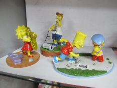 Coalport The Simpsons 'Losing His Marbles'. 'Will Work for Duff' and 'Yellow Girl Blues. (3)