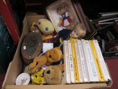 Nine Frank Richards The Magnet/Billy Bunter/Wharton Lodge Books, soft toys including Lion, Zippy, Ty