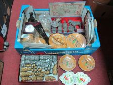 A Chess Set, Chinese figures, Japanese tea ware, Brierley Prince of Wales lidded jar, mining figure,