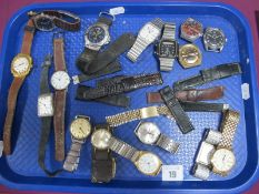 A Collection of Assorted Vintage and Later Gent's Wristwatches, including BWC 'Courage' wristwatch
