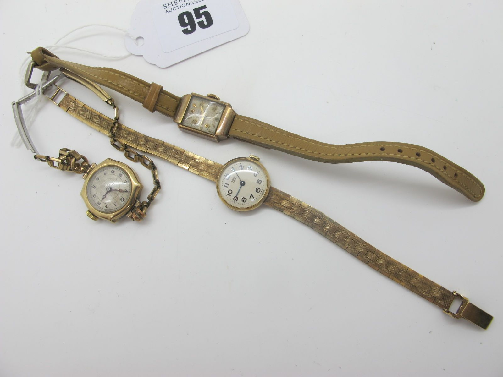 Tudor Royal; A 1960's 9ct Gold Cased Ladies Wristwatch, the signed circular dial with Arabic