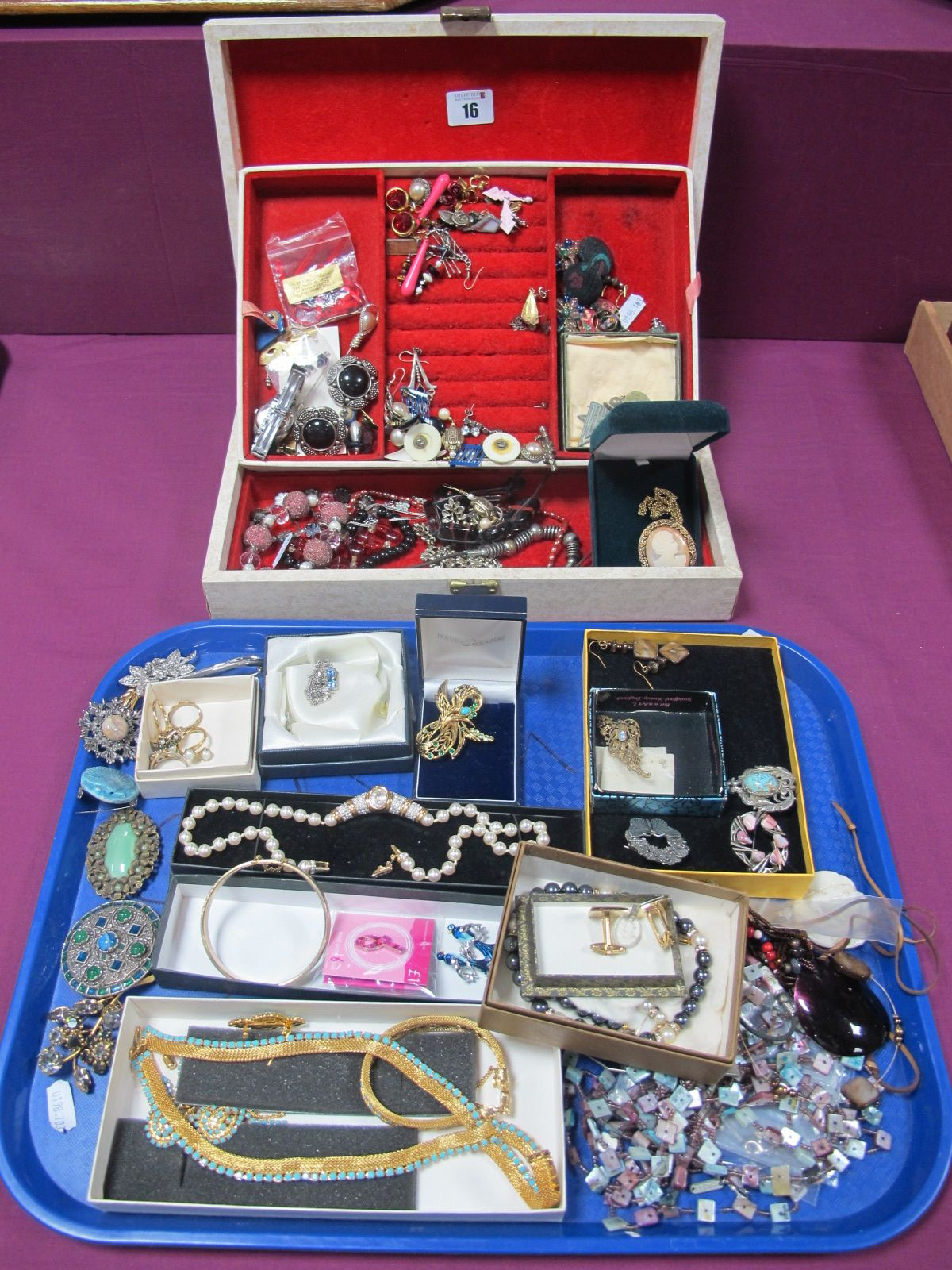 A Large Mixed Lot of Assorted Costume Jewellery, including bead and other necklaces, brooches,