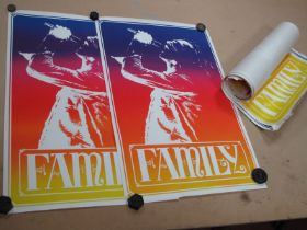 A Run of Twenty Three Posters for the Band 'Family'.