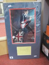 Paul Weller Signature (Unverified), mounted alongside a photograph.