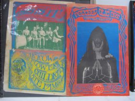 Two 60's Era Psychedlic Posters, by The San Francisco Poster Co., one is advertising Psychedelic Art