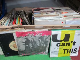 """A Large Box of 7"""" Singles, containing titles from 60's, 70's and 80's from the major recording"""