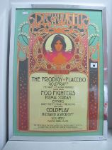 Isle of Wight Festival 2006, beautifully mounted and framed poster for the Festival, measuring 600mm