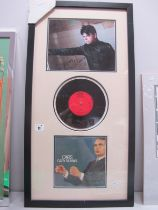 """Gary Numan Montage with Cars 7"""" Single, and signed (unverified) picture."""