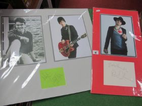 Pete Doherty (Baby Shambles) Mounted Signature, Johnny Marr and Mike Joyce (The Smiths) mounted