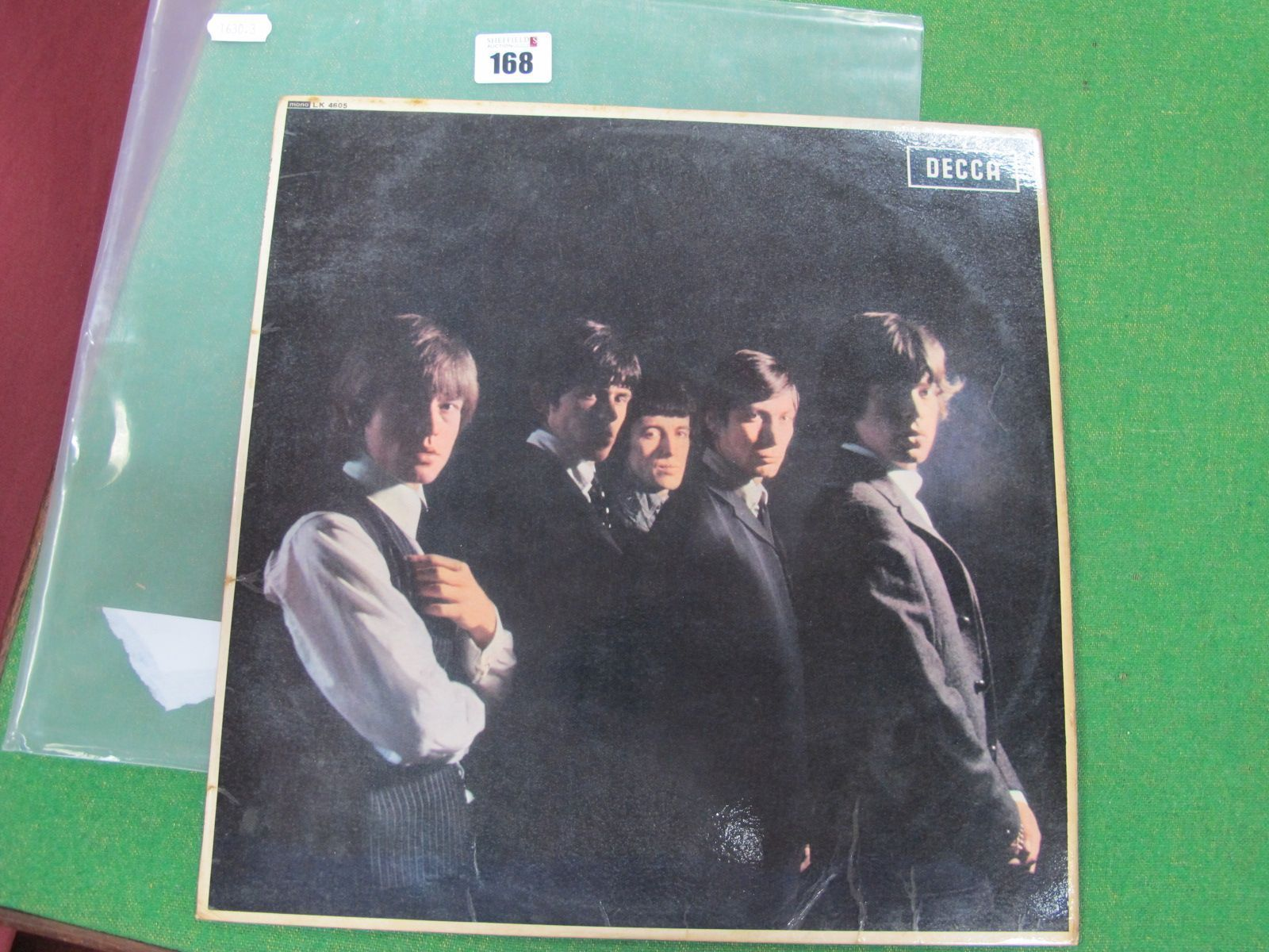 Rolling Stones 1964 L.P, Decca LK 4605, 2nd pressing that lists, 'I Need You Baby' on the read
