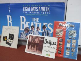 """Beatles - Record Store Advertising, a poster for the Red and Blue collections measuring 33"""" x 23.5"""";"""