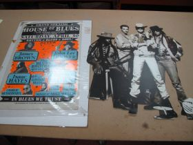 A Box of Reproduction Posters, examples for Nirvana, Paul McCartney, Linda McCartney,