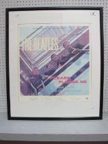 Beatles Please Please Me Lithograph, numbered 2617 of 9800, 450mm x 480mm,