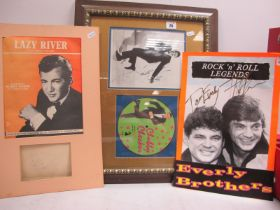 Bobby Darin, Chubby Checker and Everly Brothers Signatures, Bobby Darin is taken from an autograph