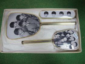 The Beatles Vanity Brush and Mirror Set.