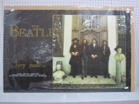 """The Beatles - Hey Jude Album Promotional Poster, measuring 35"""" x 23""""."""