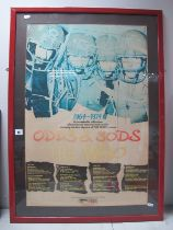 """The Who, Odds and Sods, mounted and framed promotional poster, measuring 30"""" x 20""""."""