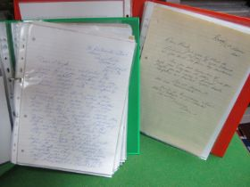 John Lennon and The Beatles Interest, here we have two folders of correspondence with Stanley Parkes