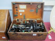 Theodolite by Cooke, Troughton & Simms, No 38007, in black lacquer, with accessories, in original