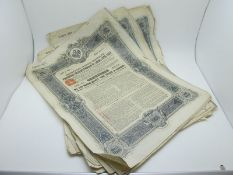 A Collection of Seventeen 1906 Russian Bonds. *All proceeds from this lot are being donated to