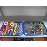 A Mixed Selection of Costume Jewellery, including brightly coloured bead necklaces, bracelets