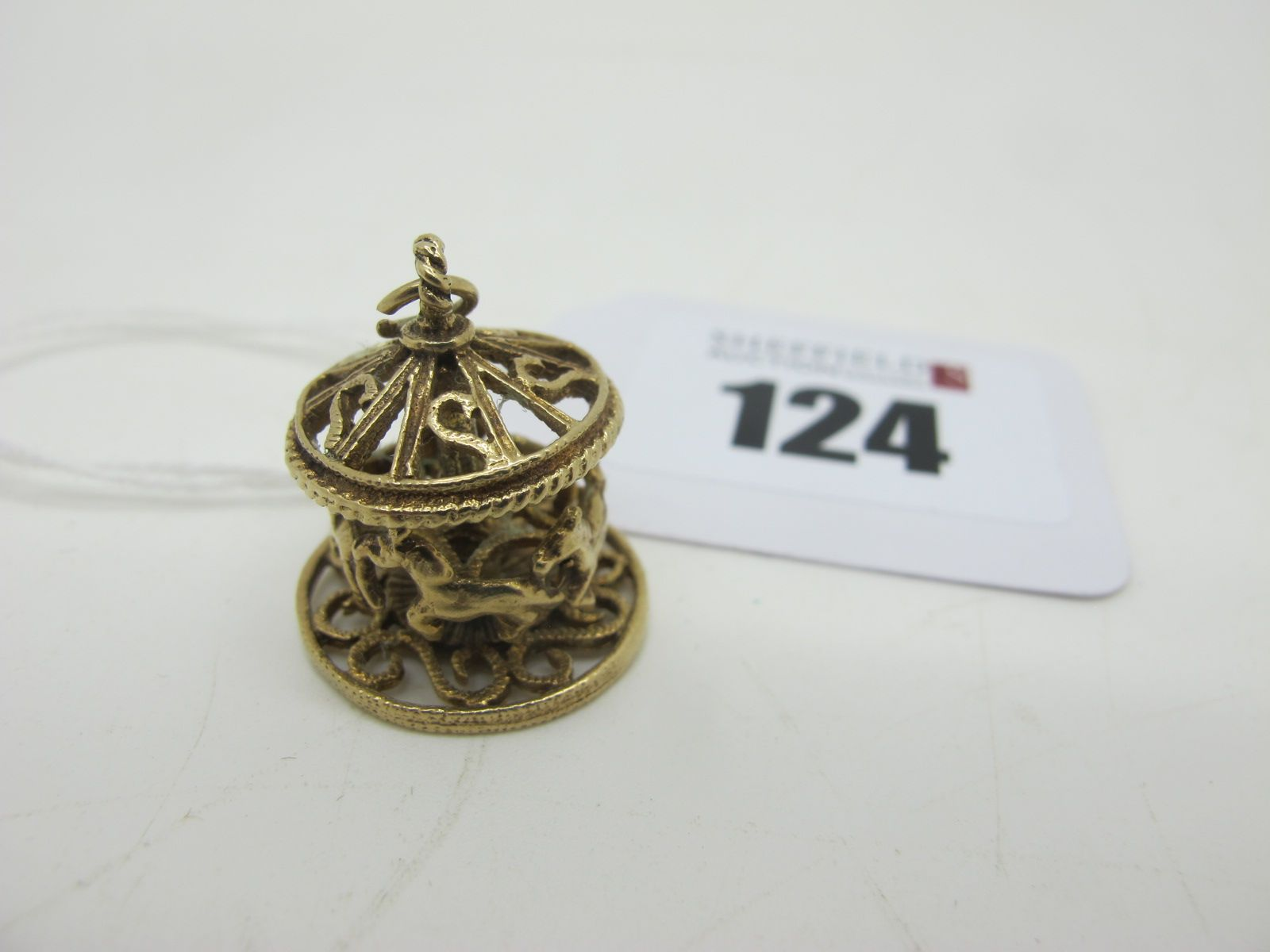 A 9ct Gold Novelty Carousel Charm Pendant.