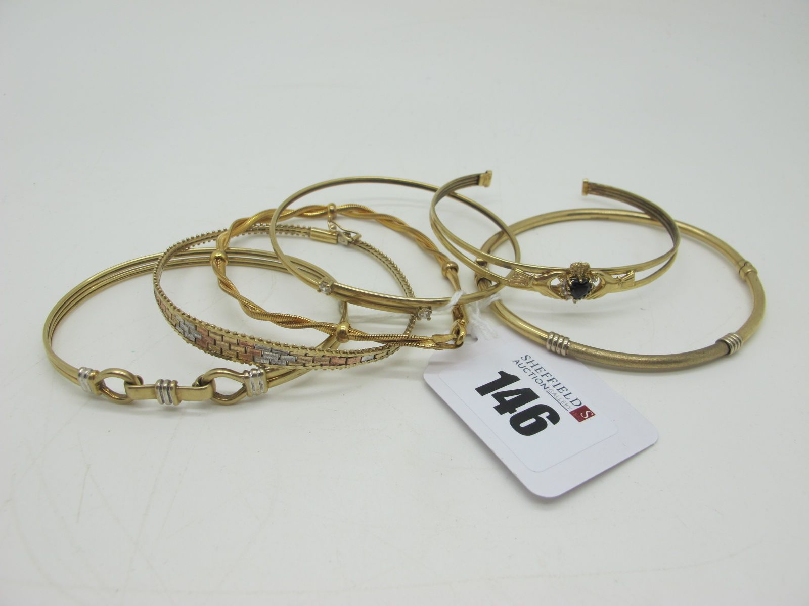 375 and Other Bangles and Bracelets. (6)