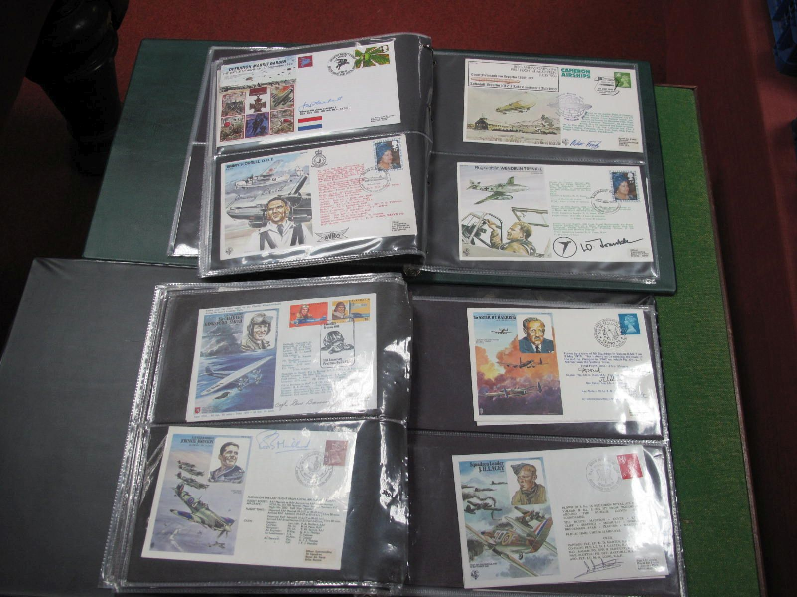 Flown Cover Collection, in two albums most are signed signatories include Sqn Leader KNT Lee DFC