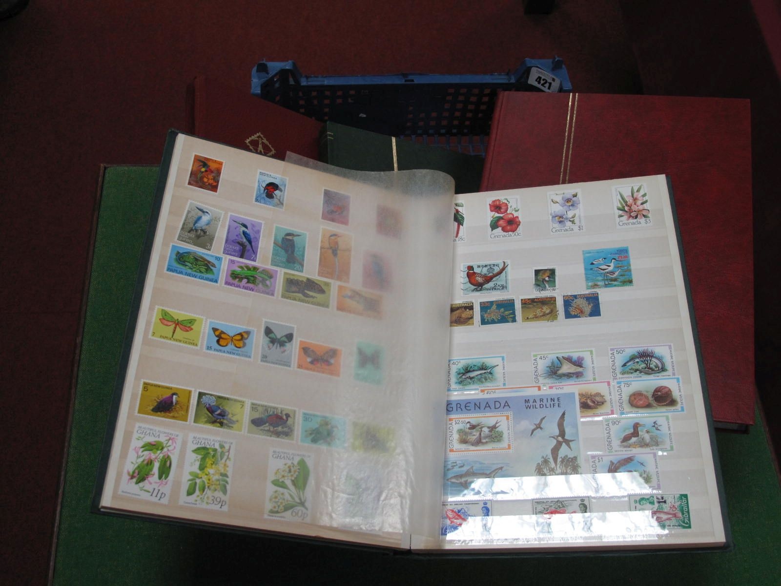 A Thematic Collection, featuring Wildlife, including birds, fish, in four well filled stock books,