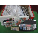 A Small Box of Mint and Mainly Used World stamps and G.B Kiloware, some better stamps on stockcards,