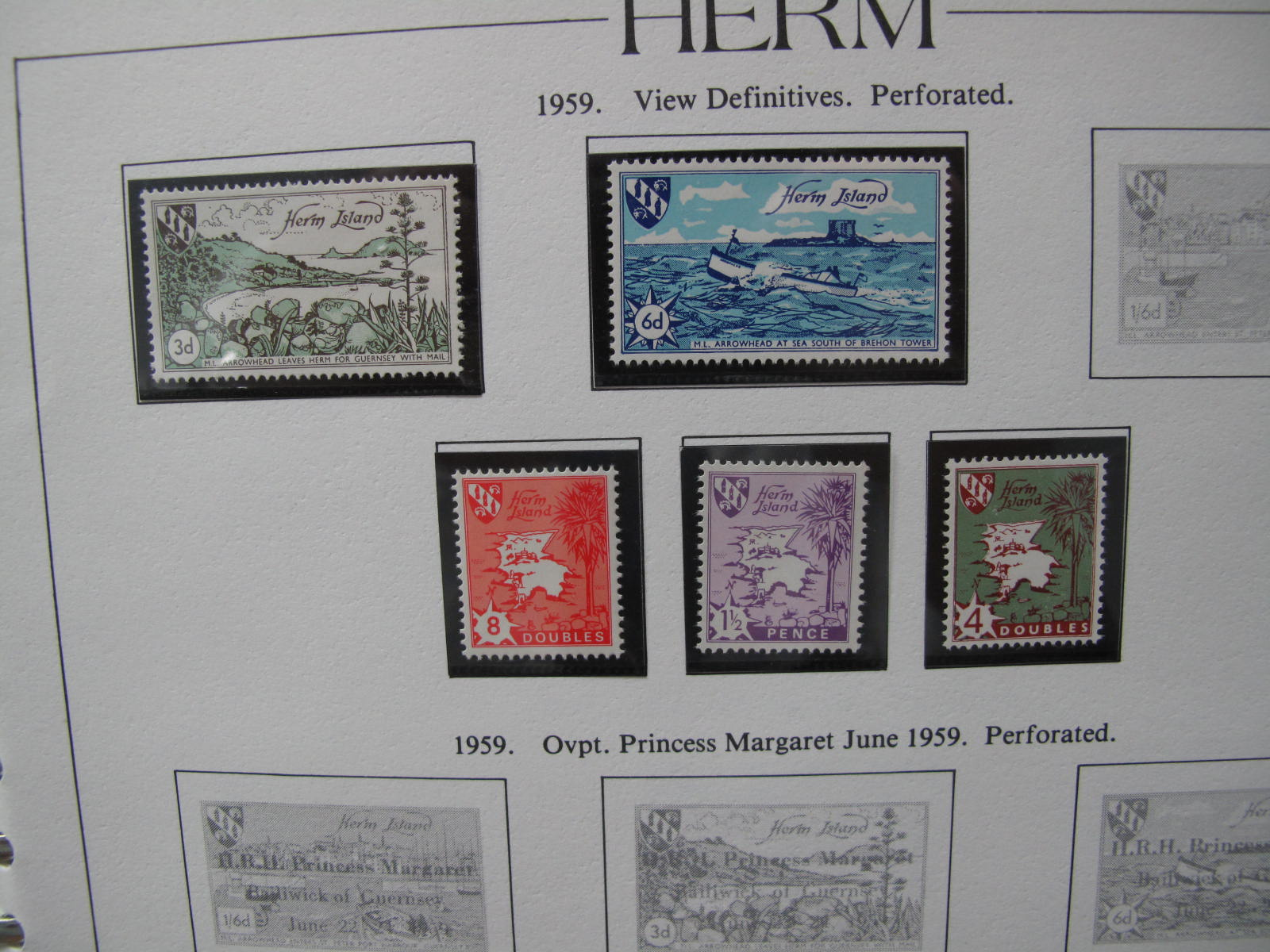 Herm and Small Channel Island Collection of Mint, from 1949 to 1966, Sark from 1962 to 1967, - Image 2 of 5